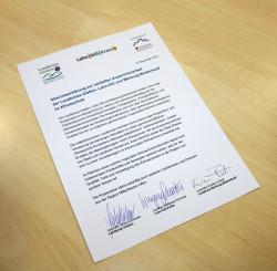 Die unterzeichnete Vereinbarung