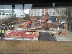 Mitten in der Bauphase: Die Krofdorfer Grundschule
