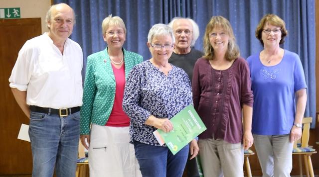 von links nach rechts: Michael Roth, Gerda Weigel-Greilich, Mechthild Koch, Michael Köhler, Christiane Föhr